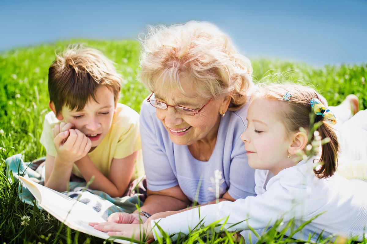 на пенсии с внуками