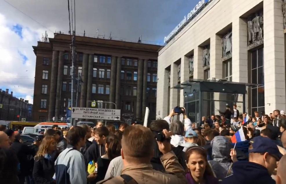 Петербуржцы протестуют против пенсионной реформы
