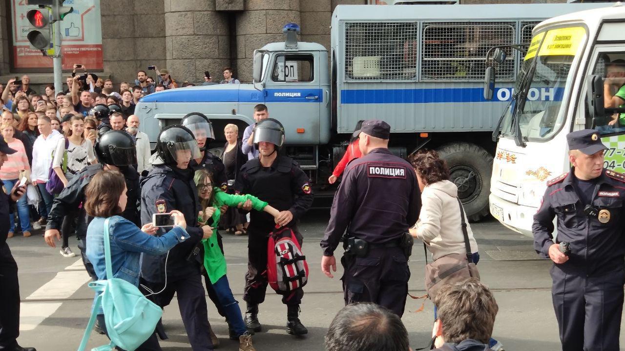 СПБ протесты против пенсионной реформы