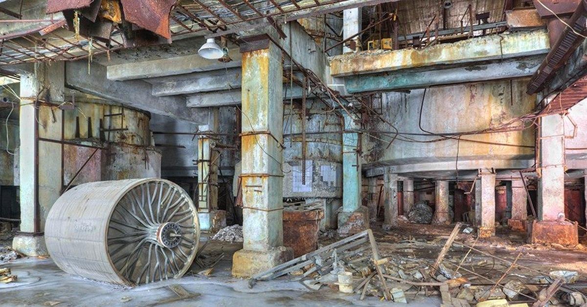 разрушенные заводы