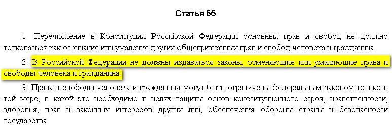 статья 55 Конституции