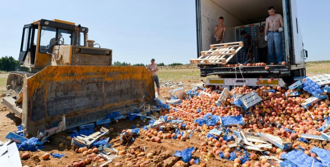 уничтожение санкционных фруктов