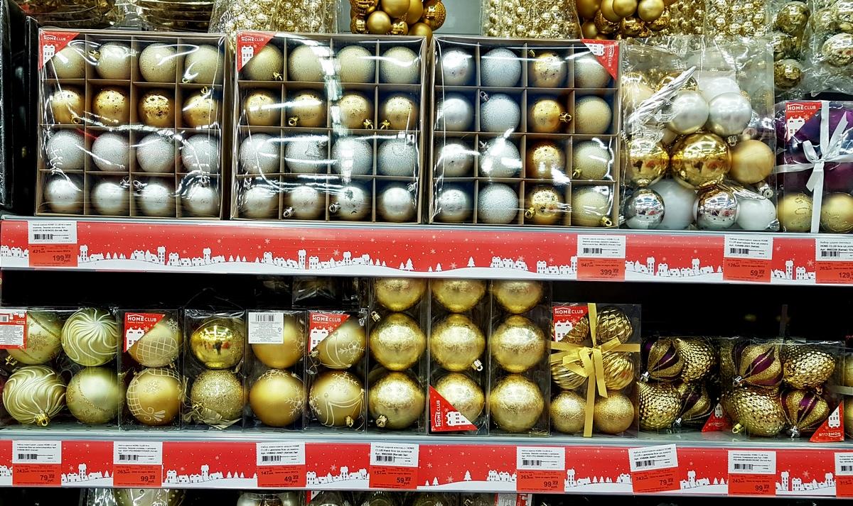 Новогодние украшения в Ленте