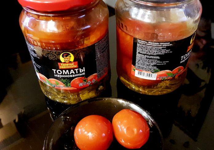 помидоры консервированные в светофоре.Казачьи разносолы
