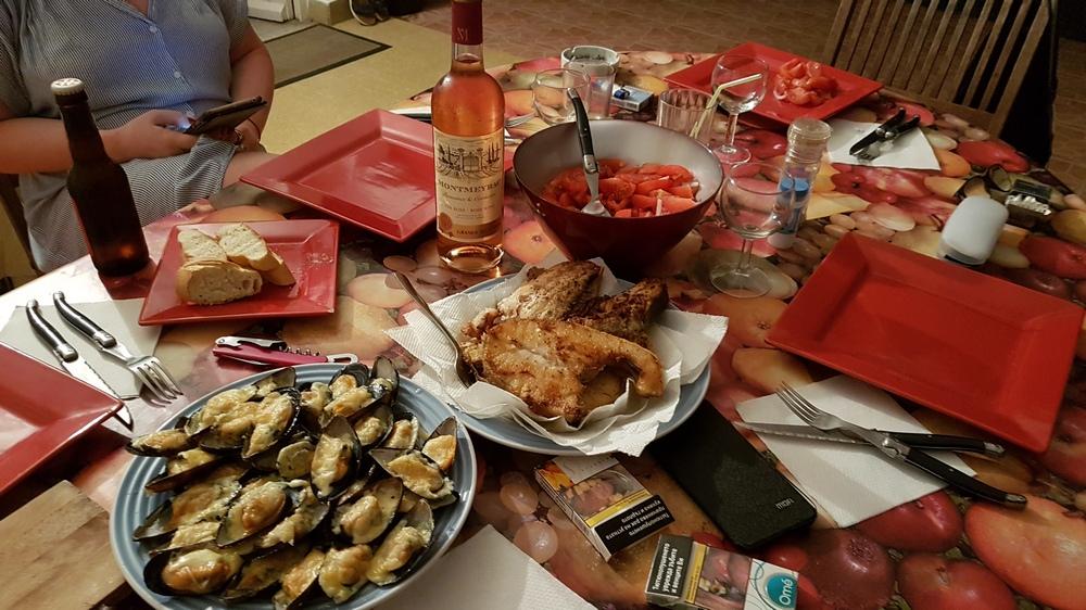 мой ужин на Мартинике