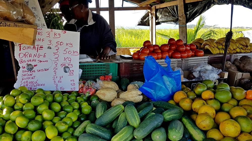 цены на фрукты на Мартинике
